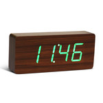 Gingko - Click Clock Slab, walnuss / LED grün