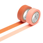 Masking tape - 2P basic color ninjin, salmon pink (2er-Set)