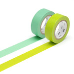 Masking tape - 2P basic color wakanae, wakamidori (2er-Set)