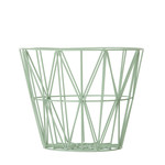 ferm Living - Wire Basket Small, mint