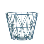 ferm Living - Wire Basket Small, petrol