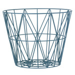 ferm Living - Wire Basket Large, petrol
