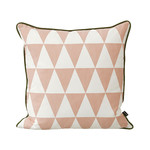 ferm Living - Geometry Kissen 50 x 50 cm, rose