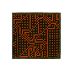 Zuzunaga - Route Black and Red / Orange Gesichtstuch, 30 x 30 cm