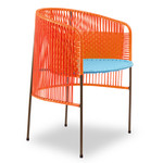 ames - caribe Dining Chair, orange / türkis / braun