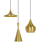 Tom Dixon - Beat Light Pendelleuchten (messing)