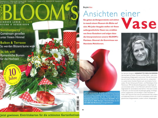 Cover + Artikel: Bloom´s - 2009 Sommer Seite 48 - Menu Gummivase