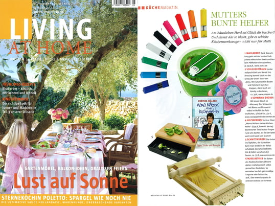 Cover + Artikel: Living at Home - 2009 Mai Seite 92 - Cut & Collect Schneidebrett