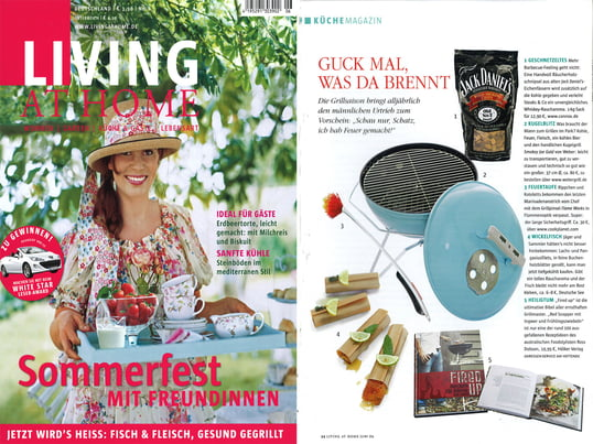 Cover + Artikel: Living at Home - 2009 Juni Seite 94 - Jack Daniel´s Räucherholz