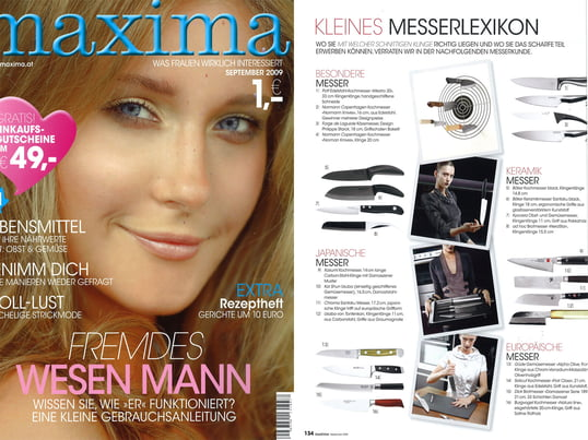 Cover + Artikel: Maxima - 2009 September Seite 134 - Knives