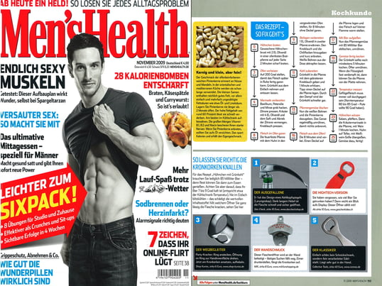 Cover + Artikel: Men´s Health - 2009 November Seite 153 -  Tools Flaschenöffner