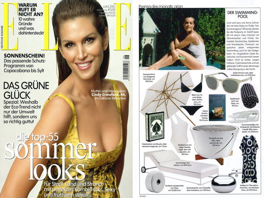 "Artikel + Cover: Elle, 2010 Juni, Seite 62, ""Der Swimming-Pool"""