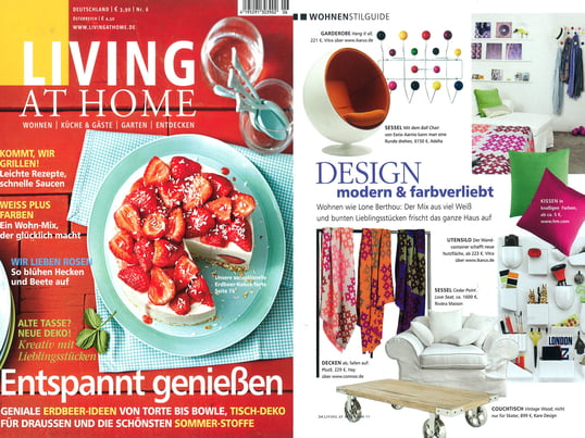"Artikel+Cover: Living at Home, 2011 Juni, Seite 34, ""Design..."""