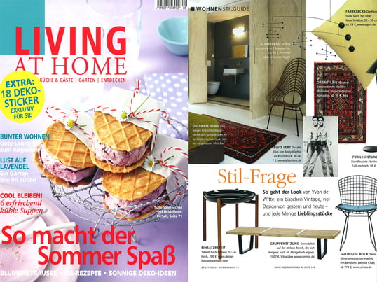 "Artikel+Cover: Living at Home, 2011 August, Seite 24, ""Stil-Frage"""