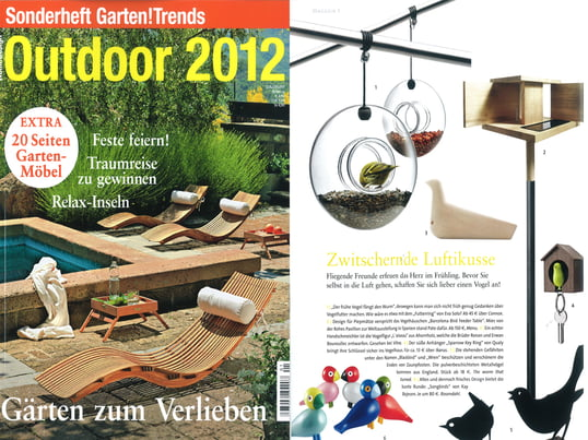 "Wohn!Design - Sonderheft: Outdoor 2012, S.14, ""Zwitschernde..."", Artikel"