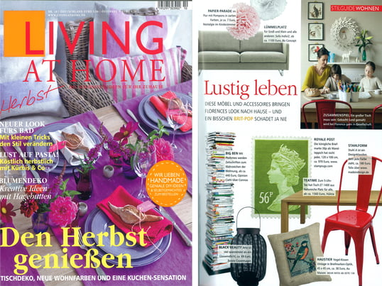 "Presse Living at Home ""Lustig leben"" Nr. 10/2012, Artikel"