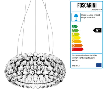 Foscarini - Caboche Pendelleuchte transparent, media