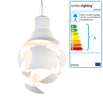 Northern Lighting - Scheisse Pendelleuchte, weiss