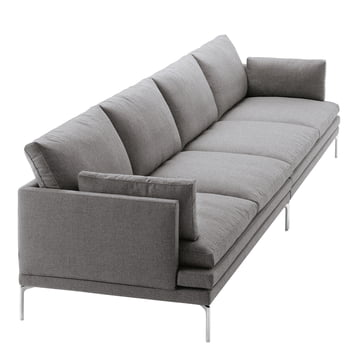 Zanotta - William Sofa, grau - 4-Sitzer