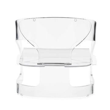 Kartell - Joe Colombo Sessel, transparent - hinten