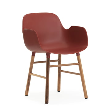 Form Armchair von Normann Copenhagen aus Walnuss in Rot