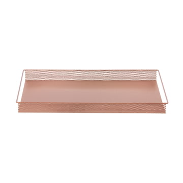 Metal Tray Large von ferm Living in Rosa