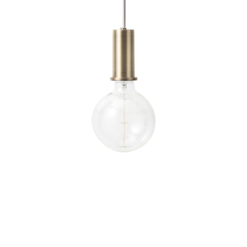 ferm Living - Socket Pendelleuchte Low, messing