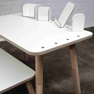 Pure Position - Growing Table Tisch mit Zubehör
