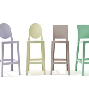 Kartell - One More, One More Please Barhocker, oval H 110 cm, gl