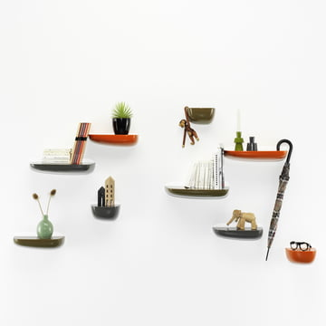 Vitra - Corniches, orange, dunkelgrau, khaki