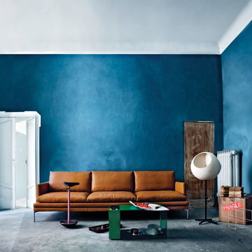 Zanotta - William Sofa, Leder hellbraun