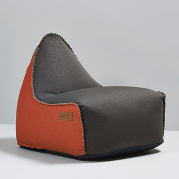 Sack it - Retro it Indoor Sitzsack, braun / orange