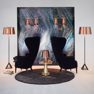 Base Kollektion von Tom Dixon mit Wingback Sessel