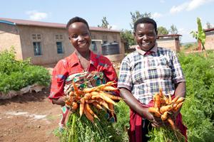 Schulgarten in Burundis