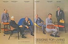 v.l.n.r.: Nelson, Wormley, Saarinen, Bertoia, Eames, Risom